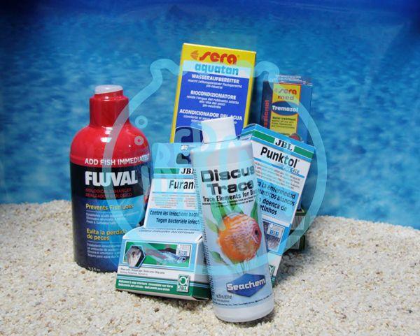Tratamiento de peces y agua del acuario -