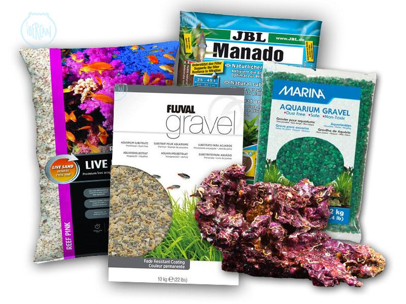 Gravas arenas y sustratos para acuarios baratos ibercan for Acuarios baratos
