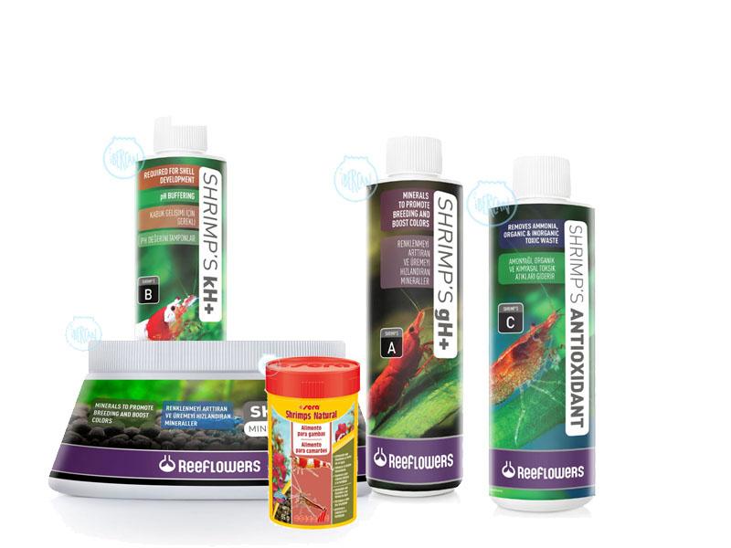 Productos específicos para la cria y el cuidado de gambas de acuario