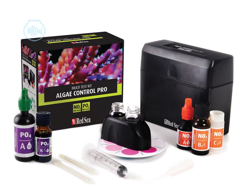 Red Sea Algae Control pro Test Kit es un kit de test para el seguimiento de los valores que producen las algas del acuario marino.