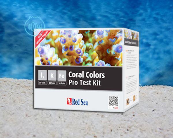 Red Sea Coral Colors Pro Test Kit para conocer el valor del yodo, el potasio y hierro en el acuario del acuario marino.