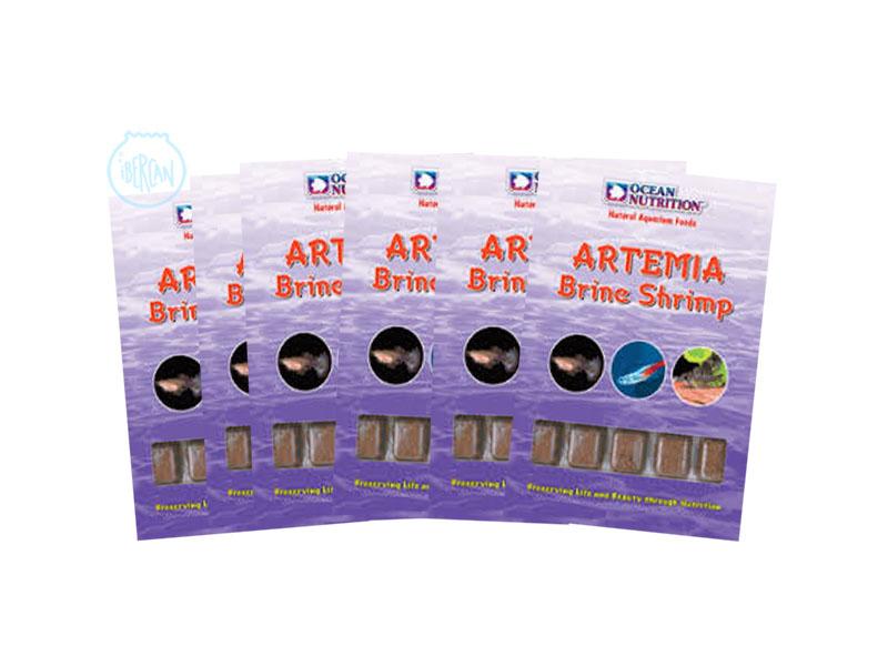 Artemia congelada ocean nutrition ibercan for Comida congelada para peces