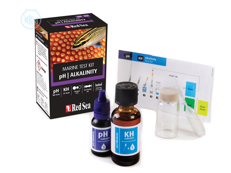Red Sea pH/Alkalinity Test Kit para conocer el valor del pH y el KH en el acuario del acuario marino.