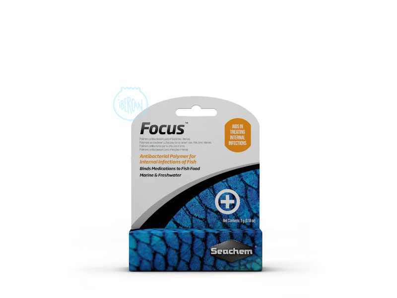 Seachem Focus contra las infecciones internas de peces de acuario.