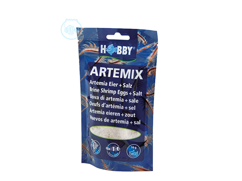 Artemia mezclada con sal lista para eclsionar Hobby Artemix
