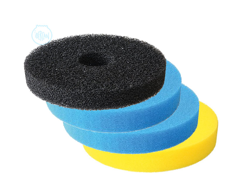 Set de tres esponjas para los filtros de estanque sera for Filtro para estanque