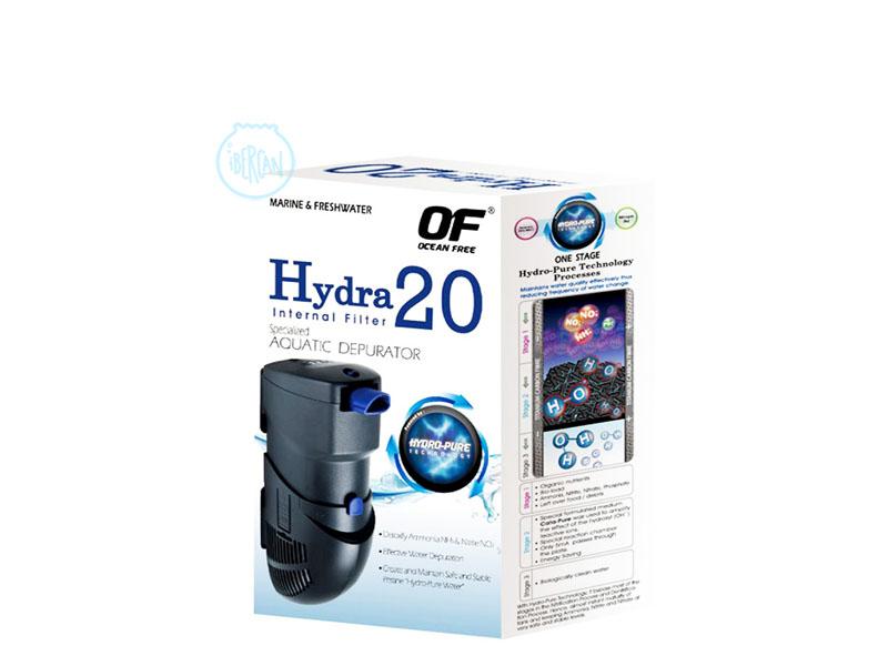 Hydra 20 filtro interior Tecnologia HYDRO-PURE