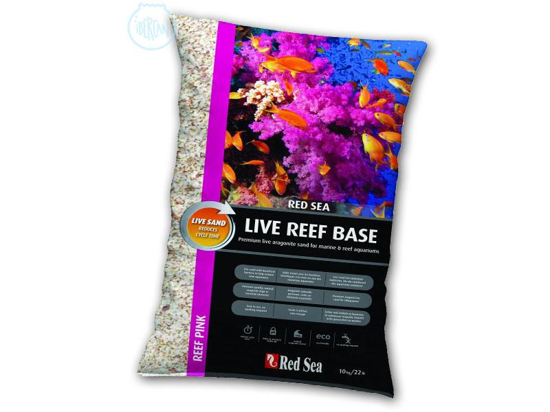 Red Sea Reef Pink Aragonite live 10kg es una arena Aragonita de 0,5mm-1,5mm de tamaño que contiene bacterias para un rápido y seguro ciclado del acuario marino.