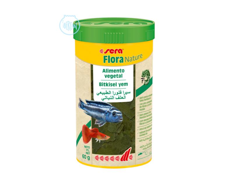 Sera Flora Nature es un alimento vegetal de escamas