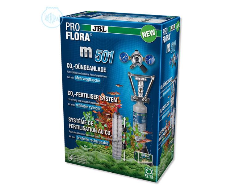 JBL ProFlora m501 es un kit completo de CO2 para acuarios con botella recargable.