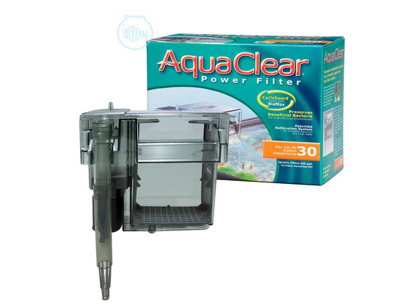 El Aquaclear 30 es un filtro de mochila con un sistema de triple filtrado, consiguiendo así una agua clara y cristalina.