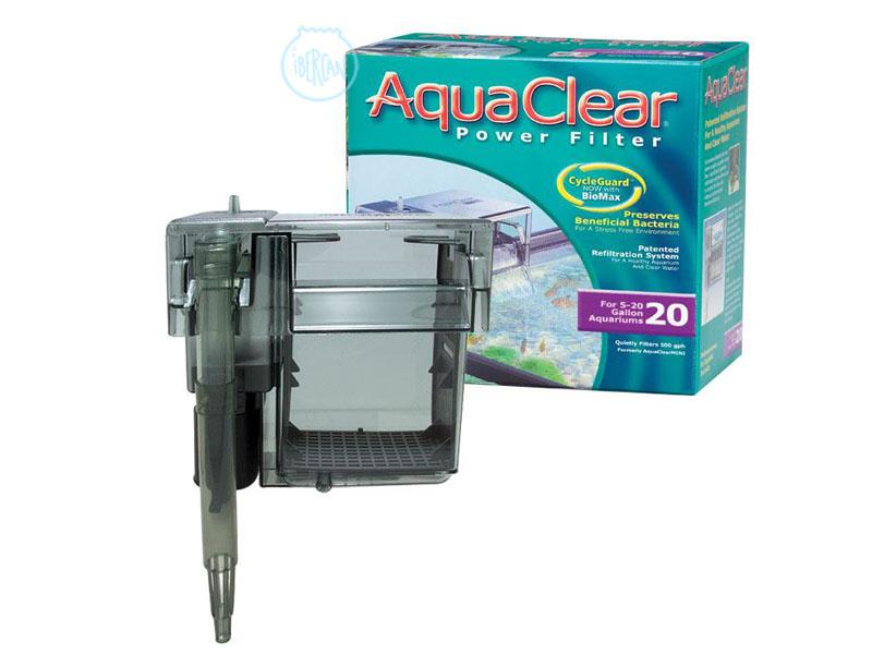 El Aquaclear 20 es un filtro de mochila con un sistema de triple filtrado, consiguiendo así una agua clara y cristalina.