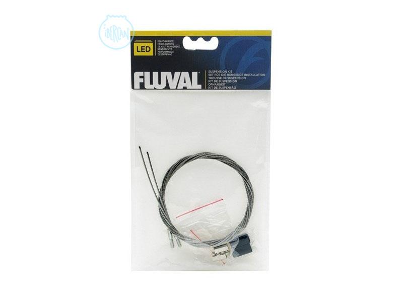 Estos cables de acero permite la sujeción de la pantalla Led FLUVAL, dejándola en suspensión, se ajusta fácilmente a la altura deseada.