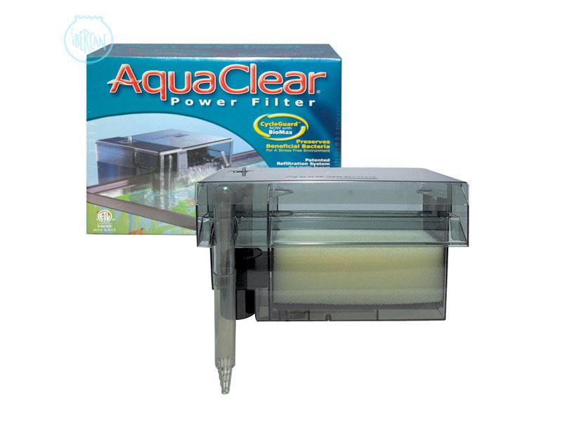 El Aquaclear 70 filtro de mochila con un sistema de triple filtrado,