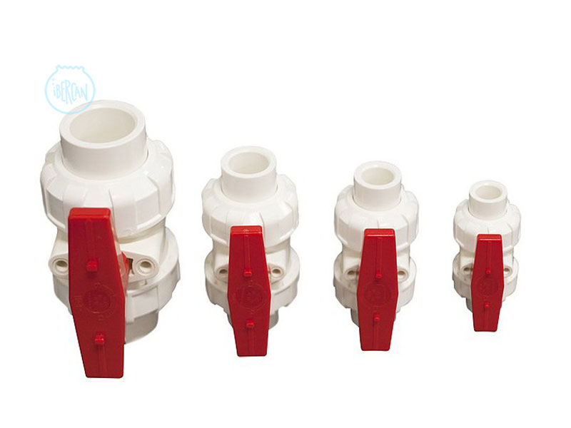 Válvulas de Bola True Unión en PVC de Vertech Aquarium para montajes