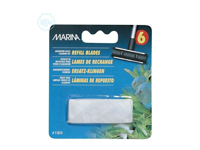 Recambio de 6 cuchillas de acero para el kit de limpieza de cristales Marina.