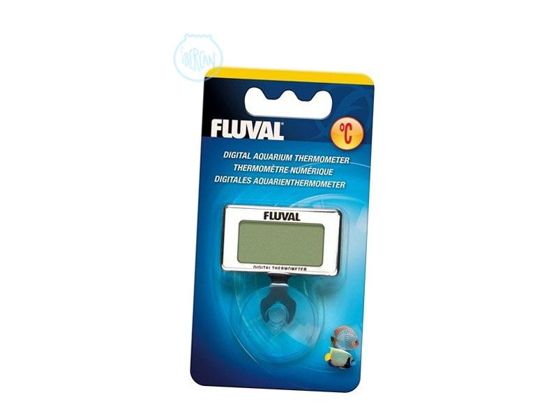 El Termómetro Acuario Fluval Digital es totalmente sumergible