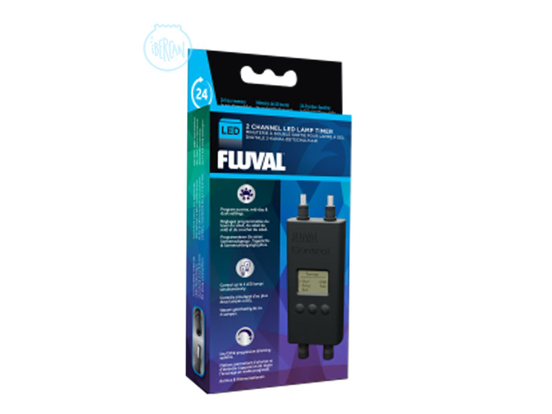 Con el temporizador digital 2 canales Led Fluval para pantallas led