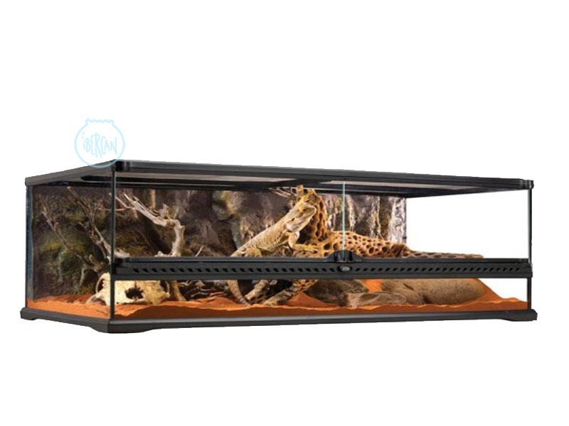 Terrario 90X45X30cm ideal para reptiles y anfibios terrestres
