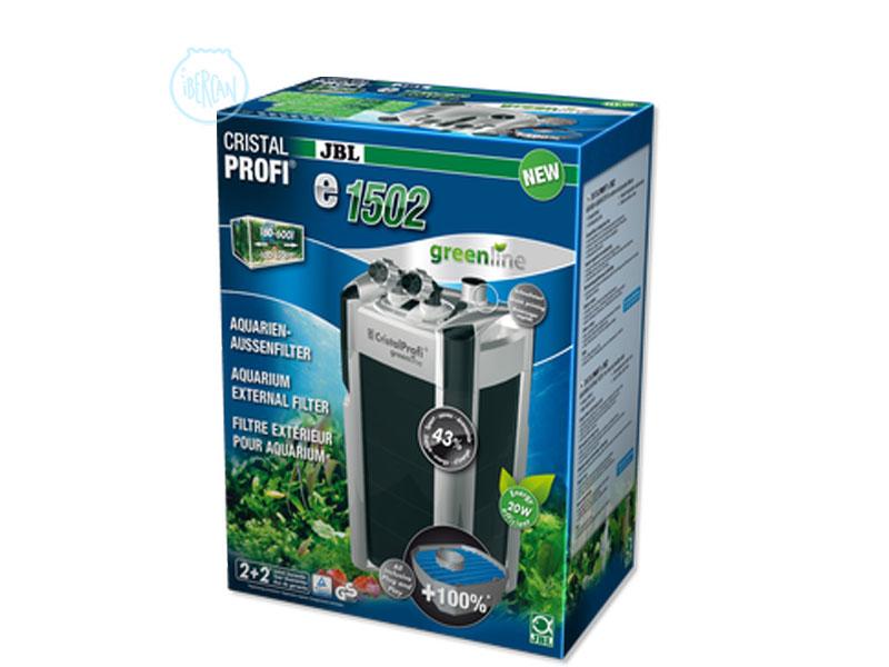 JBL CristalProfi e-1502 es un filtro exterior para agua del acuario