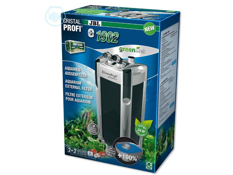 JBL CristalProfi e-1902 es un filtro exterior para agua del acuario