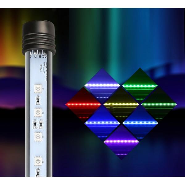 Los tubos led T5 sumergibles de distintos colores.