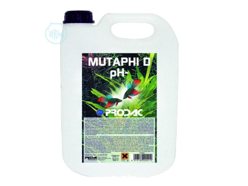 Prodac Mutaphi  -pH/KH 5 litros es un reductor de pH y KH en líquido.