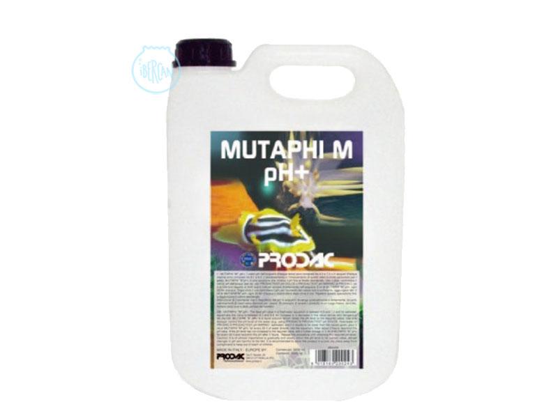 Prodac Mutaphi M pH+ es una solución líquida que aumenta pH en el acuario.