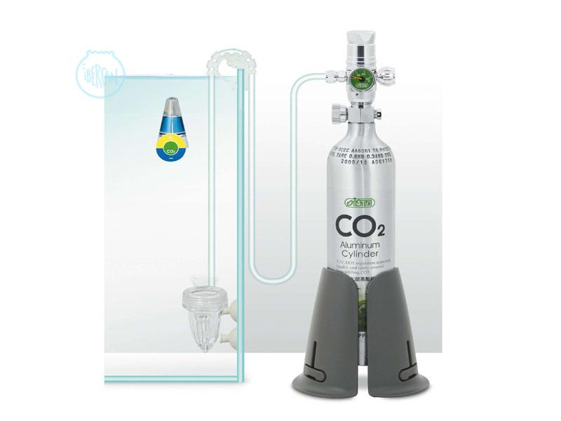 Equipo CO2 completo 500g I674 cilindro sin soldadura aprobado por la regulación de seguridad TUV.