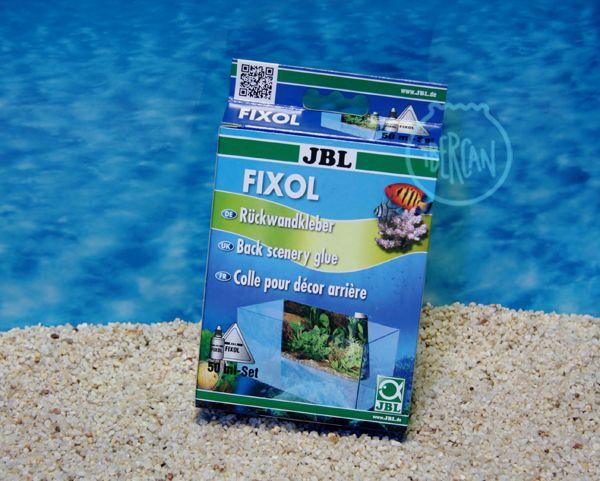 Pegamento transparente para pegar fondos traseros Adhesivo para la pared posterior de acuarios y terrarios JBL Fixol 50ml