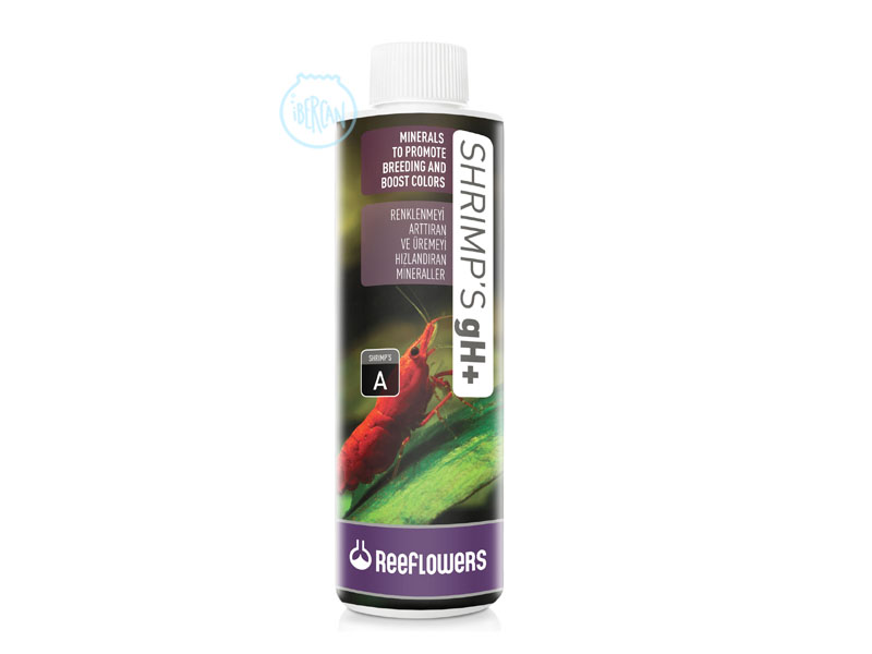 ReeFlowers Shrimp's gH+ contiene minerales y los elementos traza