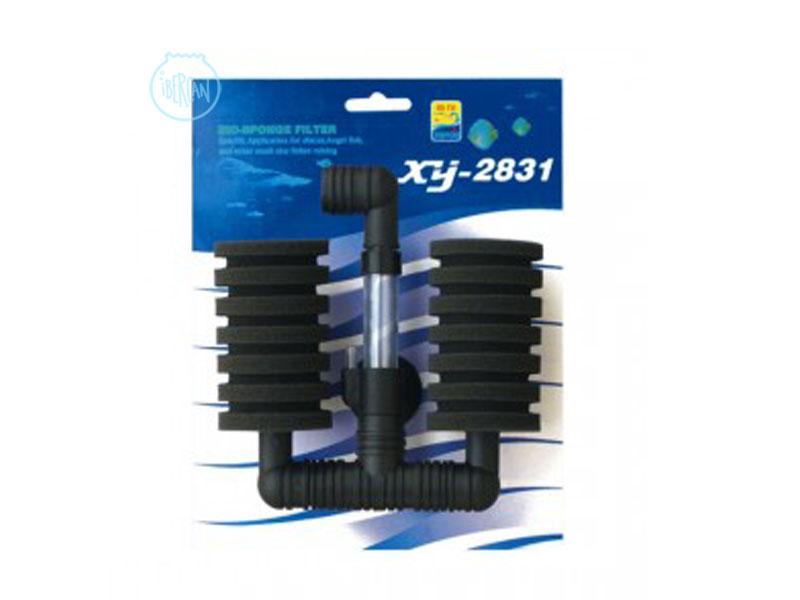 Los filtros de esponja doble XY-2831 proporcionan tanto filtración mecánica como biológica
