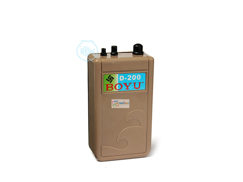 El compresor a pilas Boyu D-200 oxigenación a peces, gusanos, gambas