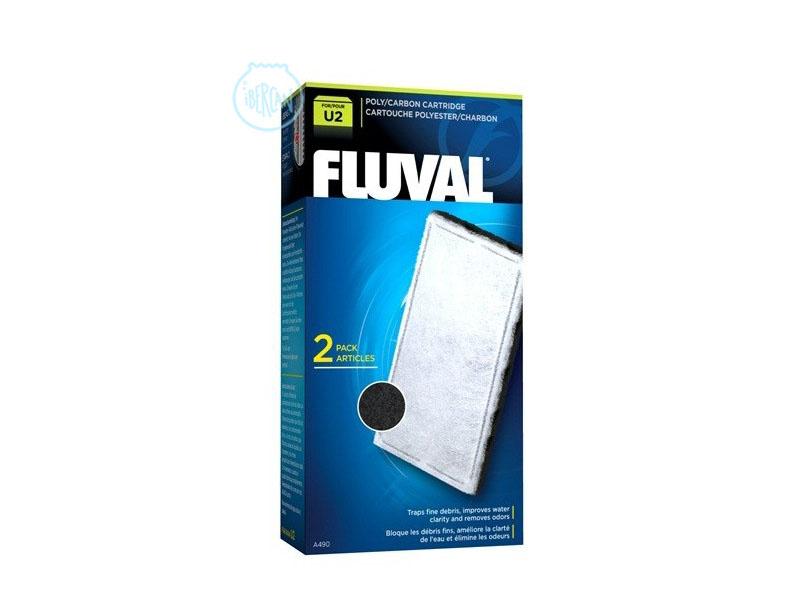 Las cargas Fluval U Carbón U2 ayudan a controlar el agua del acuario