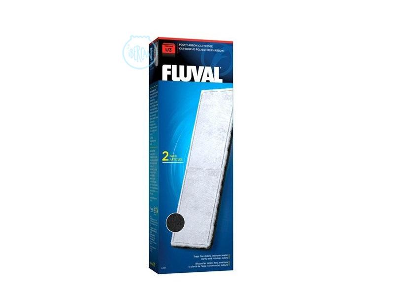 Las cargas Fluval U Carbón U3 ayudan a controlar el agua del acuario
