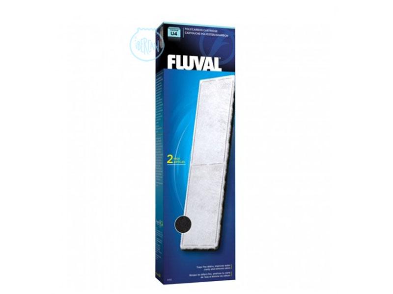 Las cargas Fluval U Carbón U4 ayudan a controlar el agua del acuario