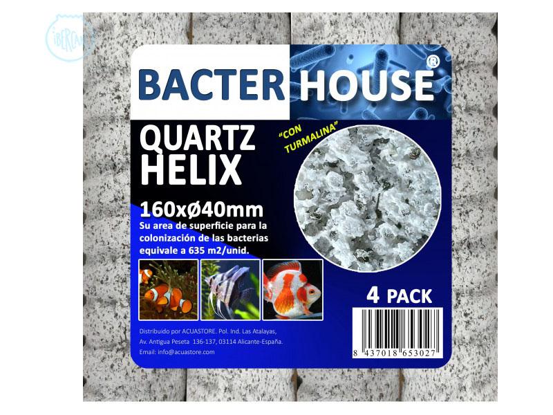 Bacterhouse Quartz helix tiene una estructura interna ultra-micro-porosa