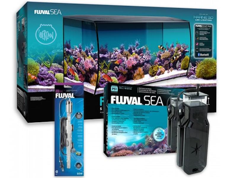 El Acuario Fluval Flex Marino de 123L está fabricado para agua salada y tiene un diseño innovador.