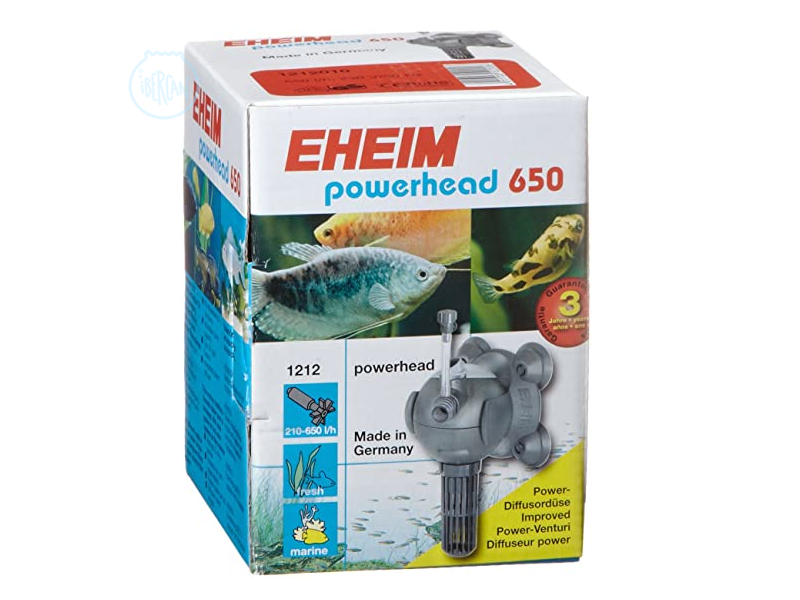 Bomba universal Eheim 650 con forma de bola para acuarios.