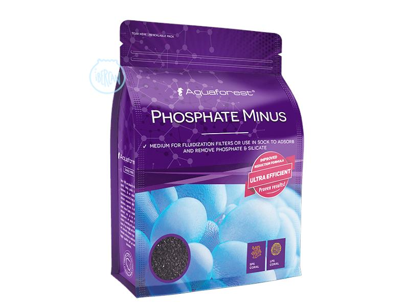 Aquaforest Phosphate Minus reduce fosfatos y silicatos en acuarios marinos.