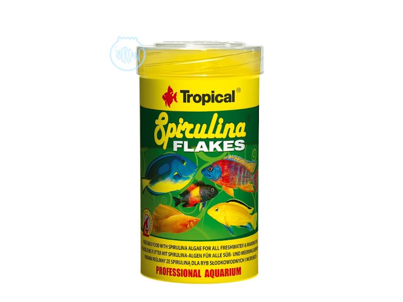 TROPICAL SPIRULINA FLAKES Un alimento vegetal para peces en escamas