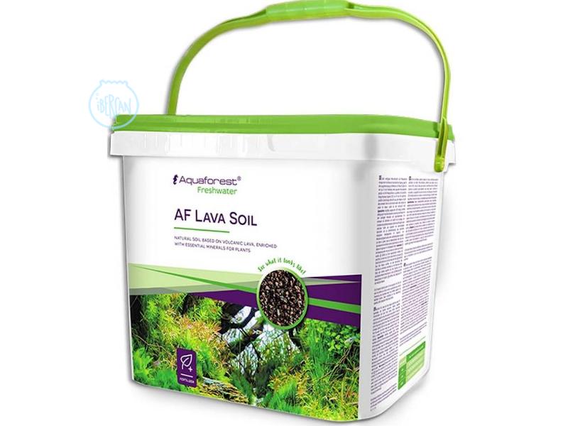 AF Lava Soil Black libera lentamente las sustancias  alimentando las plantas.