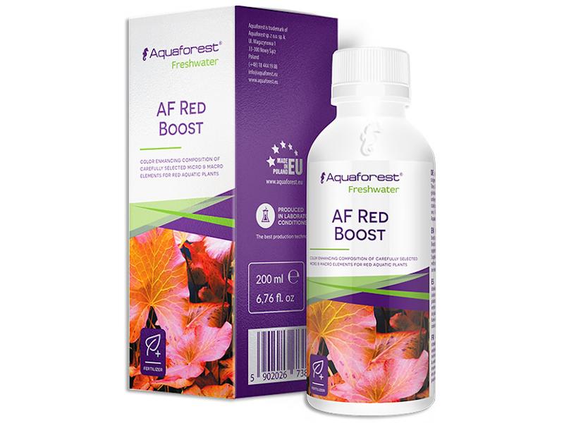 Aquaforest Red Boost micronutrientes y fitohormonas profundizar el rojo de las plantas.