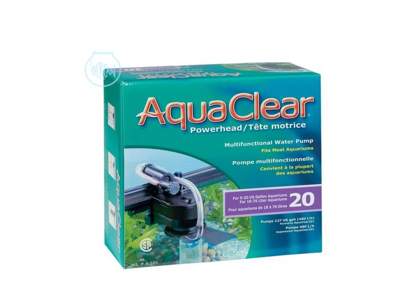 Aqua Clear 30 realiza el filtrado creando corrientes de agua