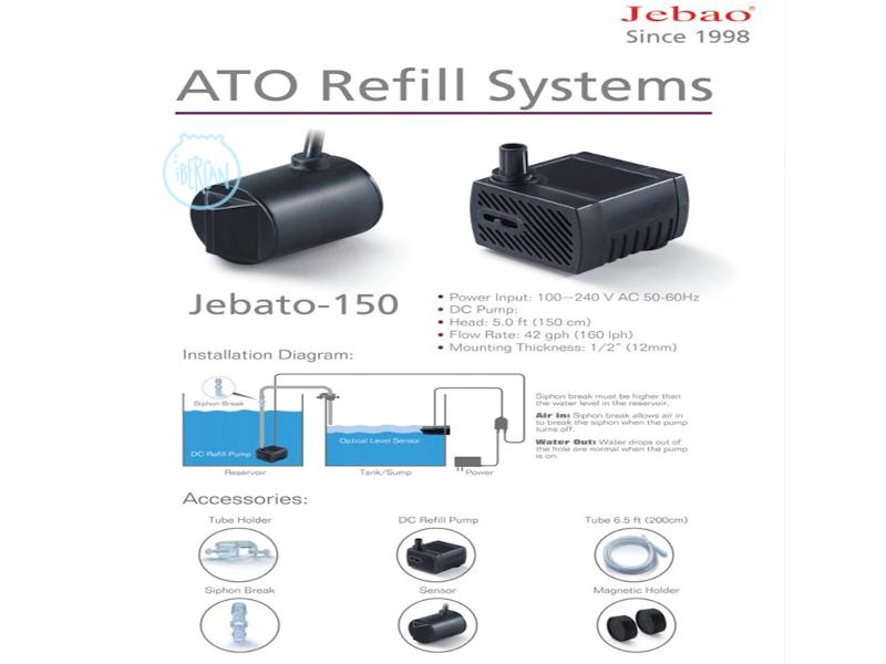 Jebato 150 es un producto inteligente de relleno de agua automático en el acuario.