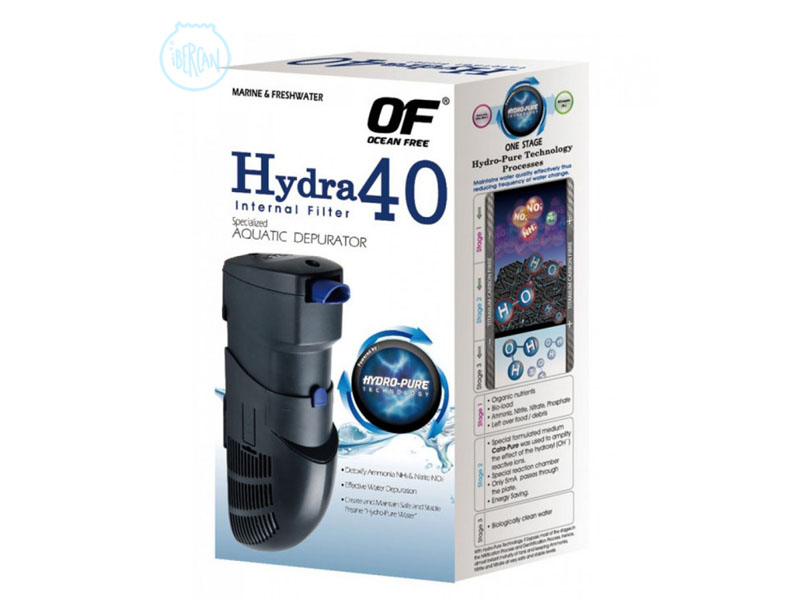 Hydra 40 filtro interior Tecnologia HYDRO-PURE