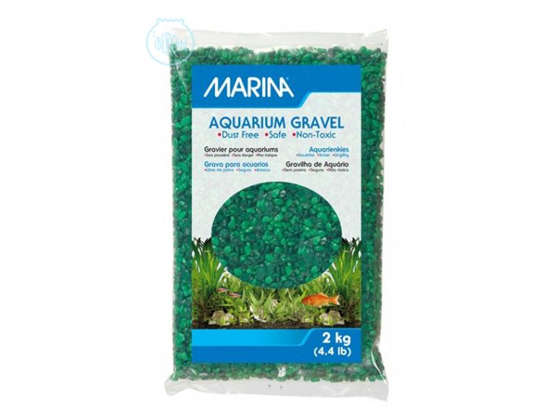 Grava para acuario dos verdes 2kg