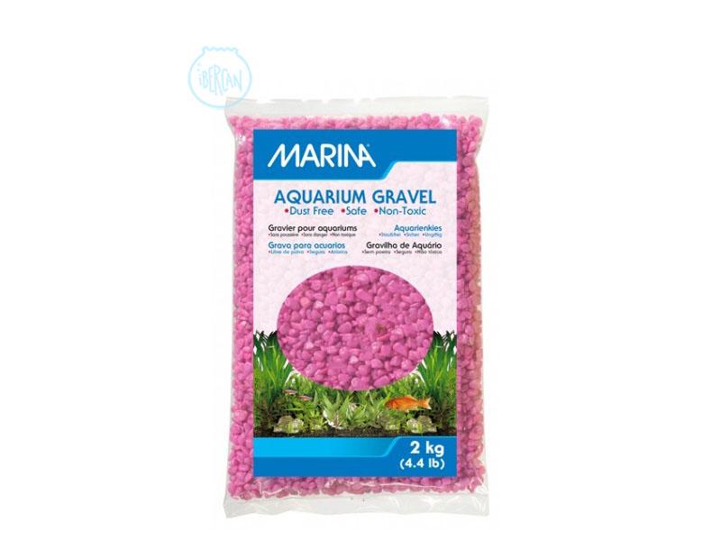 Grava para acuario rosa 2kg