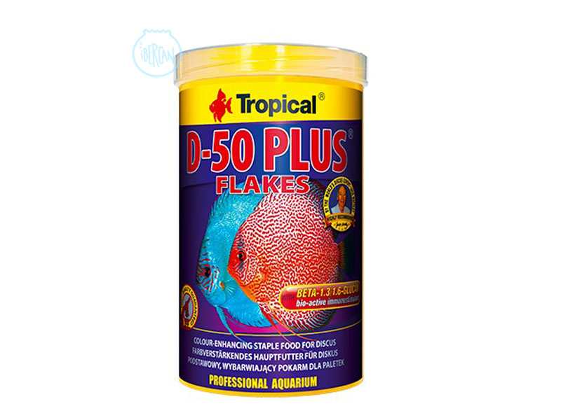 Alimento en escamas para peces Disco Tropical D-50 Plus