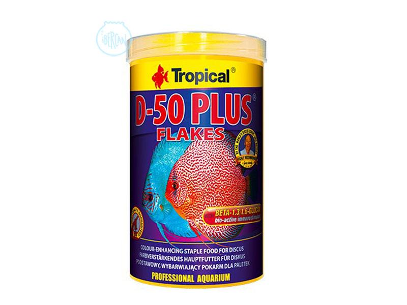 Alimento en escamas para peces Disco Tropical D-50 Plus